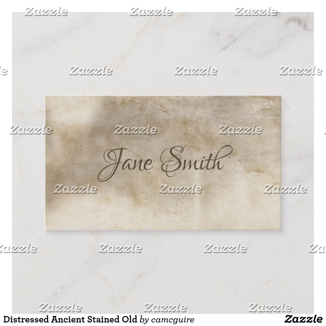 distressed ancient stained old business card  zazzle