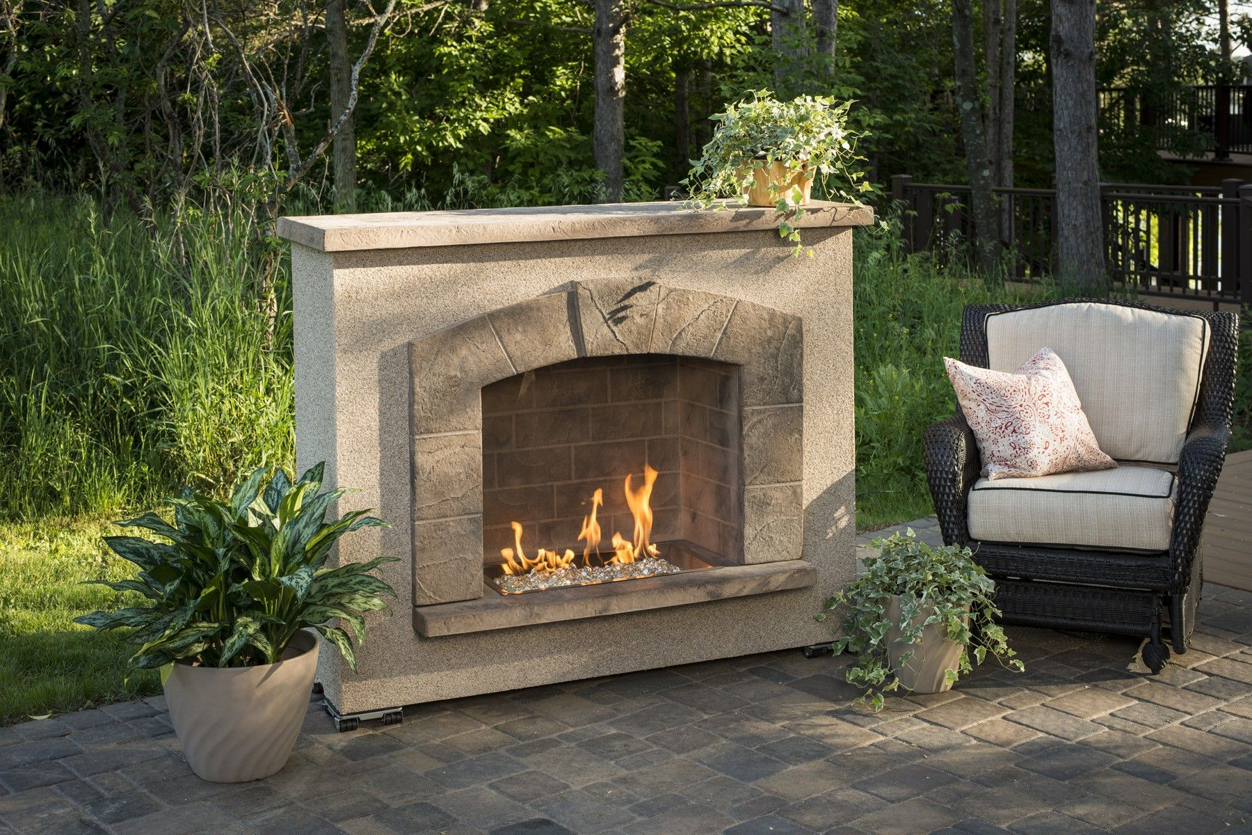 stone arch fireplace the stone arch gas fireplace by outdoor
