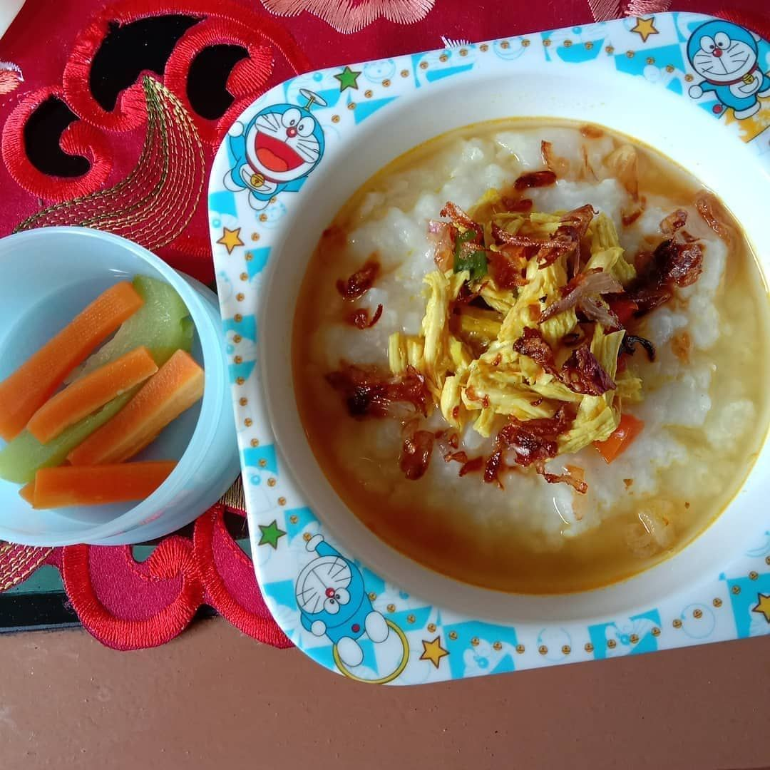 Reposted From Ichaisyah Na Perdana Menu Mpasi Asha Pake Soto Ayam Kuah Kuning Nasi Tim Soto Ayam Kuah Kuning Fing Spanish Appetizers Food Finger Foods