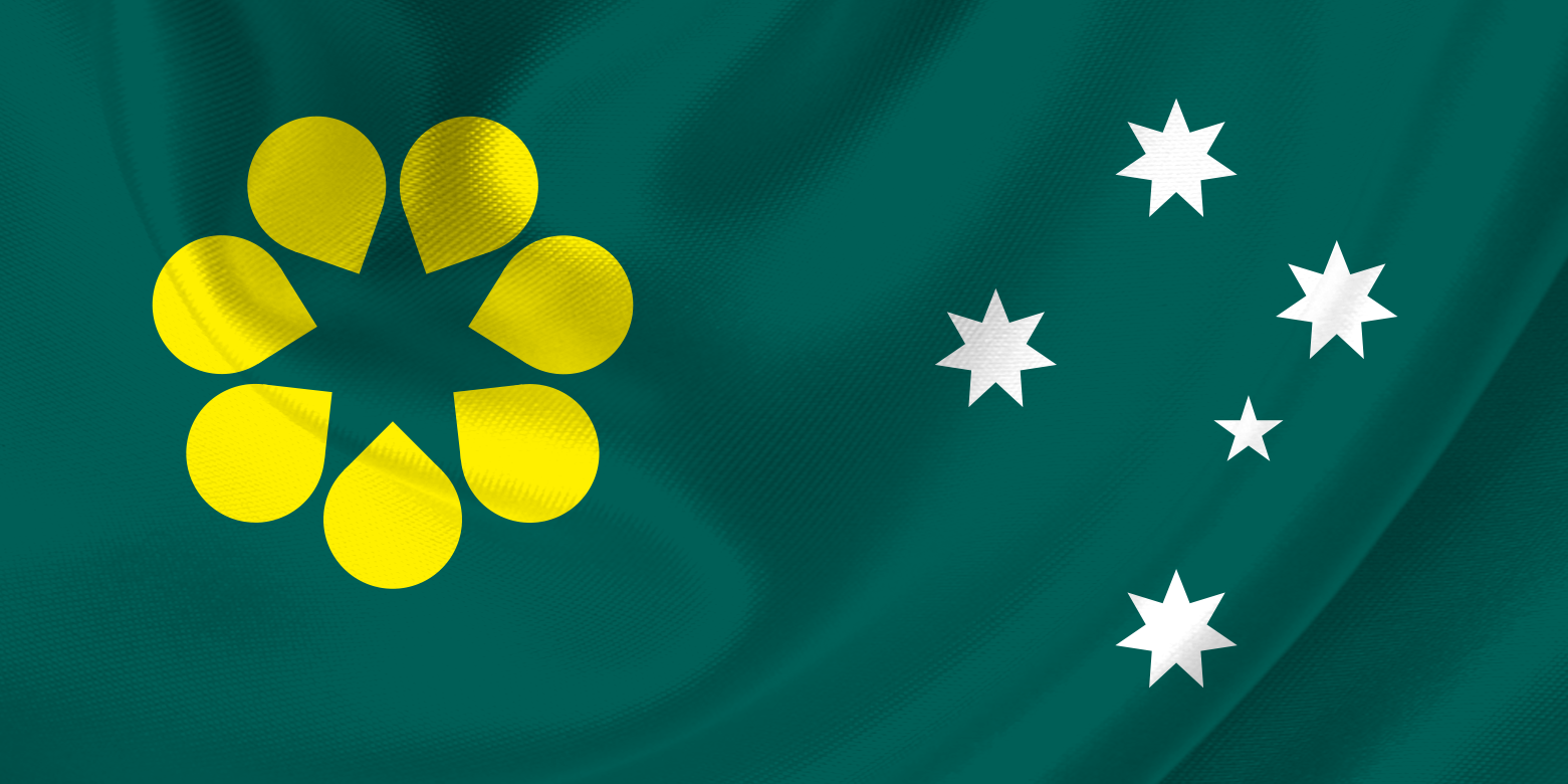 Golden Wattle Flag Preliminary Idea With Southern Cross