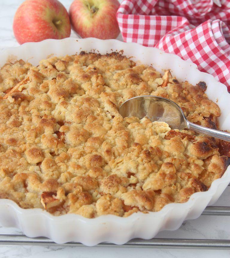 äppelpaj med frasigt täcke