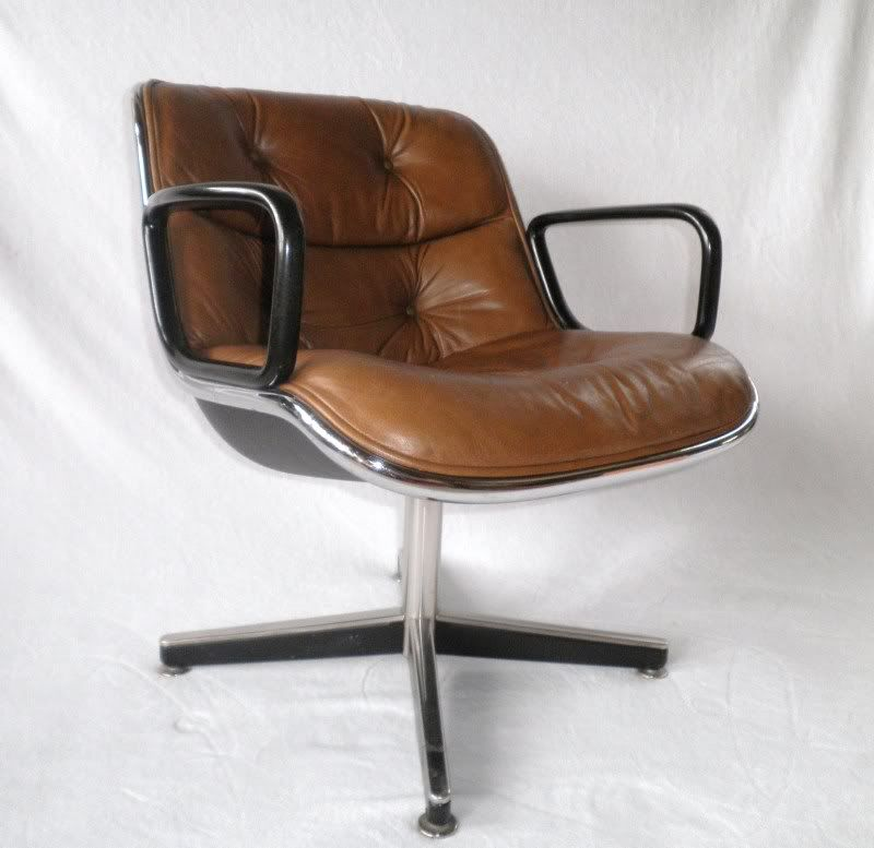 Superb Knoll Pollock Brown Leather Executive Chair