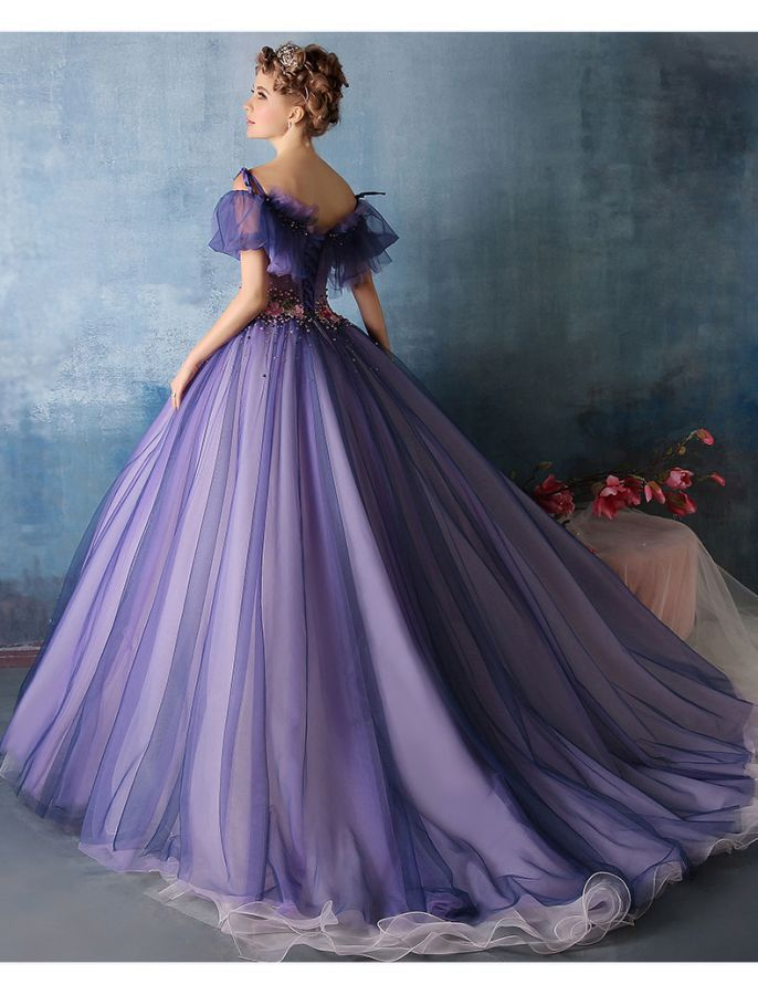 Off Shoulder Vintage Style Princess Ball Gown | Gowns | Pinterest ...