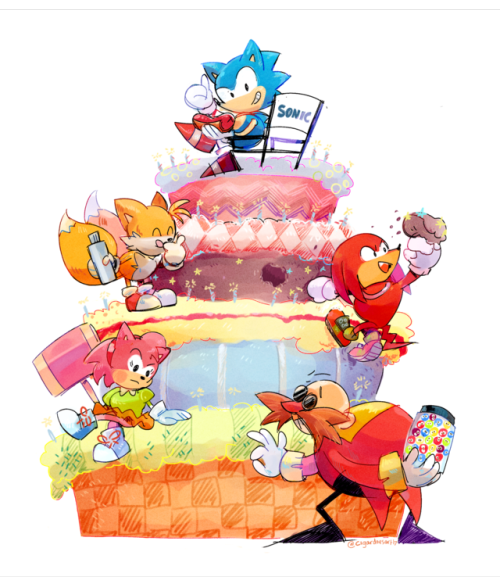 A Birthday Pic For Sonic!! Can You Guess What Levels The