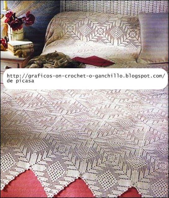 crochet fabric , CROCHET - GANCHILLO - PATRONES - GRAFICOS: COLCHITA ...