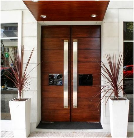 pintu minimalis dari kayu jati   desain pintu masuk