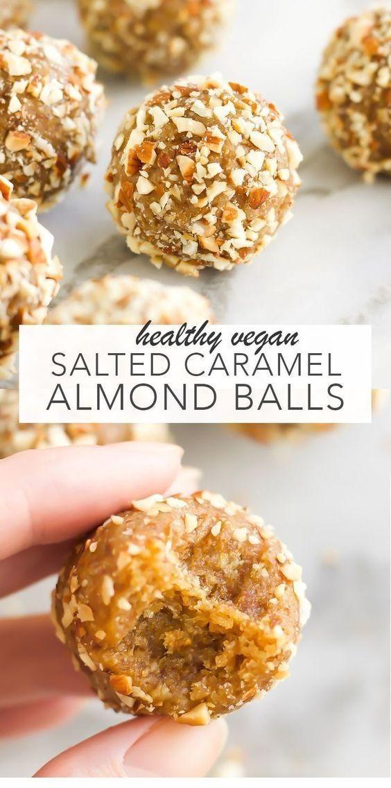 Vegan Salted Caramel Almond Balls, Vegan Salted Caramel Almond Balls,