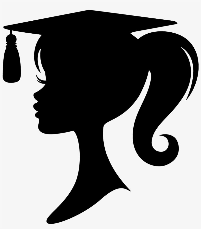 Graduation Crafts Graduation Girl Silhouette Transparent Png Graduation Girl Graduation Crafts Graduation Silhouette
