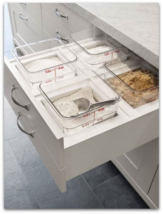 House Hacks Pull Out Baking Drawer This Is A Dream With Lids On Would Be Good Way To Them Maybe In Pantry