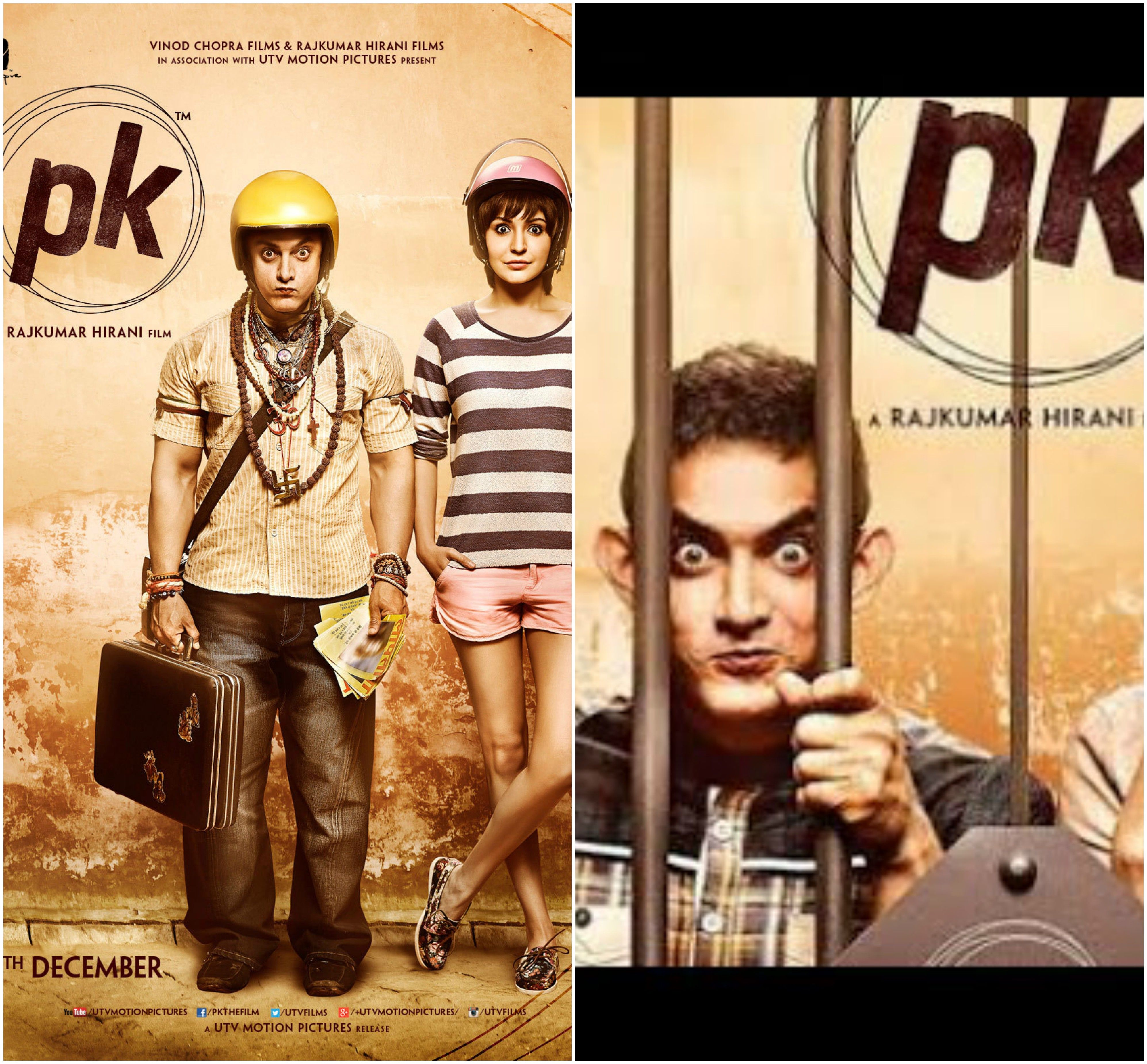 All new posters of PK featuring Aamir and Anushka