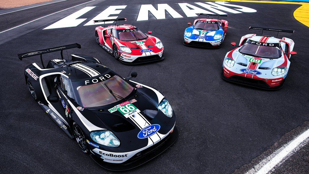 Ford S Gt Race Cars Get Historic Liveries For Le Mans Ford Gt