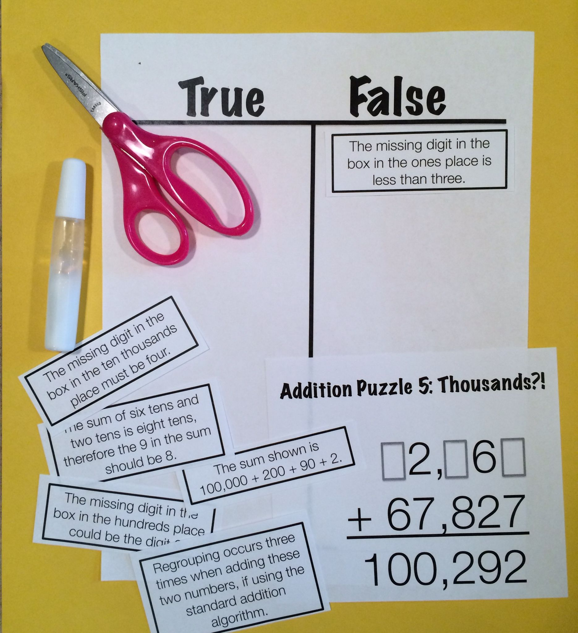 Reasoning Puzzles Addition Subtraction Activities For Math Talk Gr 3 4