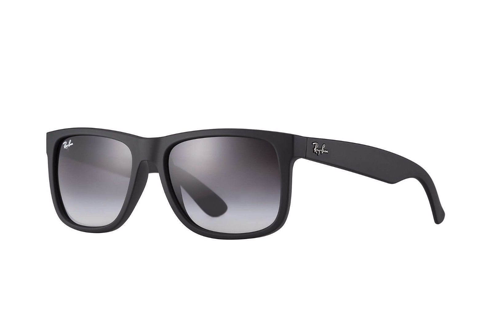 Ray-Ban RB4165 Justin Sunglasses 601/8G Black Frame/Grey Gradient ...