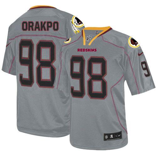 Men's Nike Washington Redskins #98 Brian Orakpo Elite Lights Out Grey Jersey $129.99