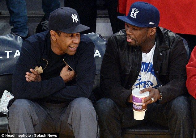 Denzel Washington And 50 Cent Share Some Laughs As They Hang Out