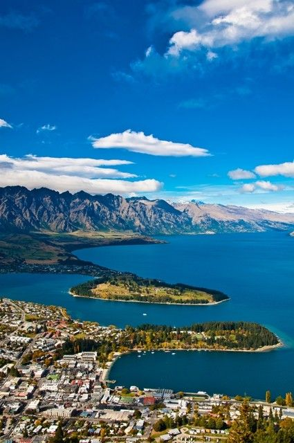 Queenstown Aerial View Places To Travel Best Places To Travel Queenstown New Zealand