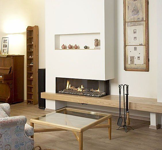 modern gas fireplace design contemporary luxury living room wall