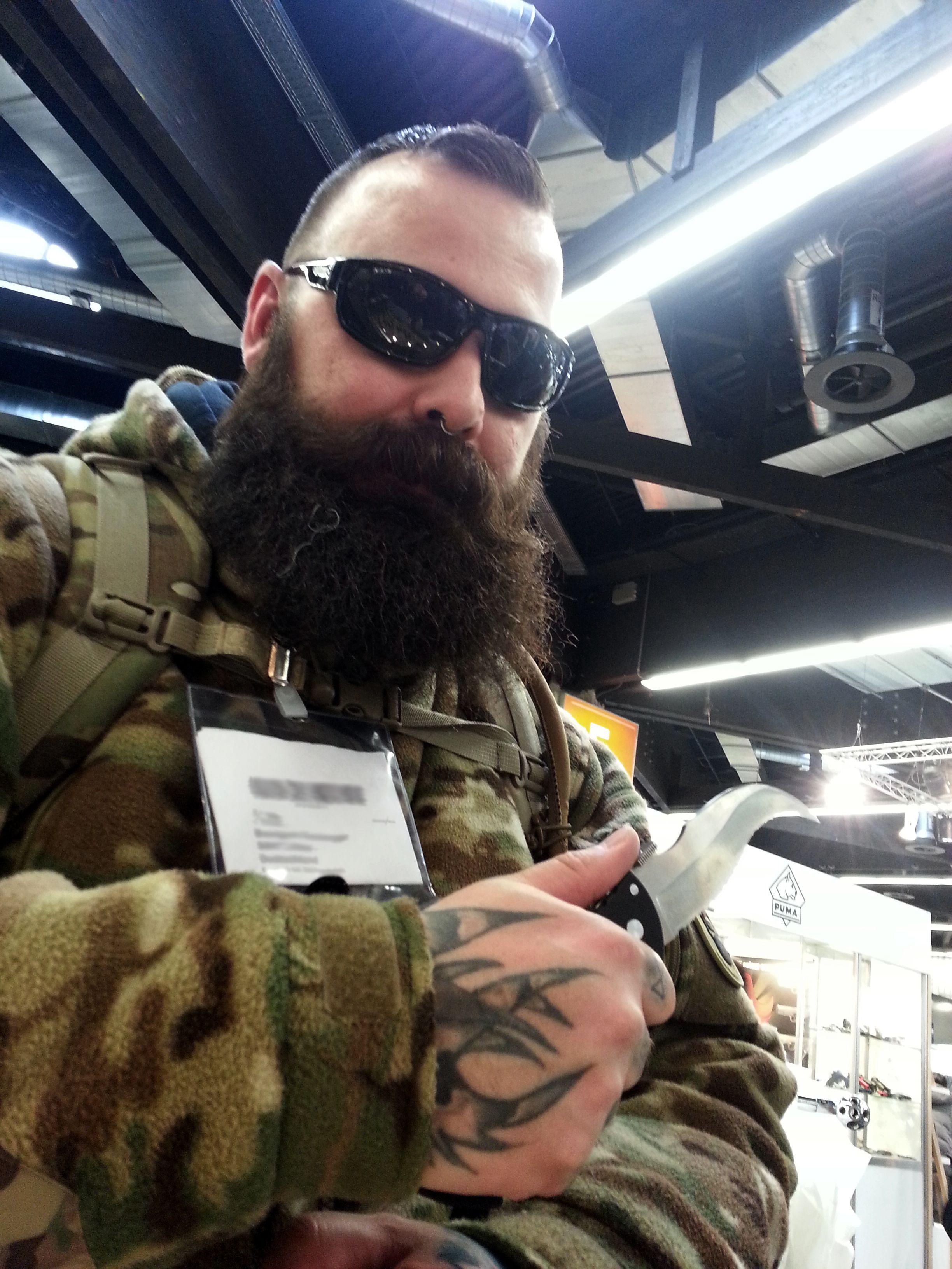 Cold Steel Knife + Cold Steel Battles Shades + Beard = #WINNING!  www.coldsteel.com  #coldsteel #iwa #tacticool #TacticalBeard