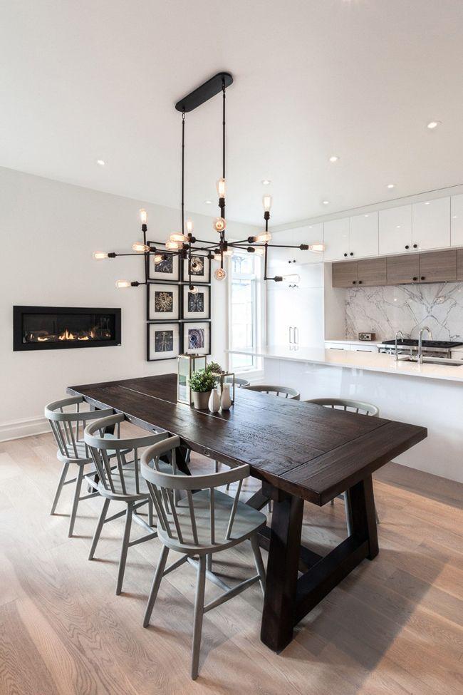 Salle A Manger Contemporaine Modern Kitchen Tables Dining Room Design Interior