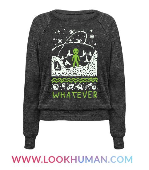 Whatever Alien Ugly Christmas Sweater   Women's Pullover   Aliens ...
