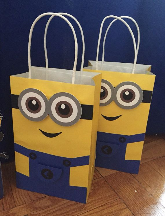 Minions Favor Bag Goo Candy Set Of By Paperlettedesigns