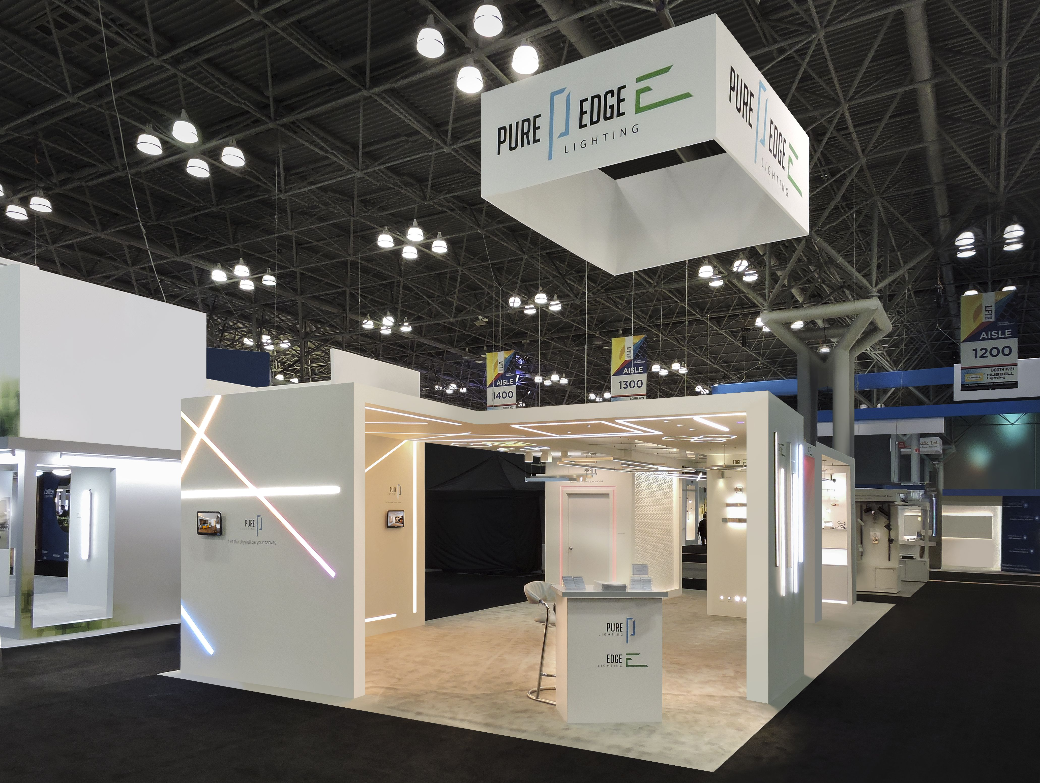 LightFair 2015| Edge Lighting booth| Blocco and Bol LED ceiling mount lights | EDGE LIGHTING LightFair | Pinterest : lighting for photo booth - azcodes.com