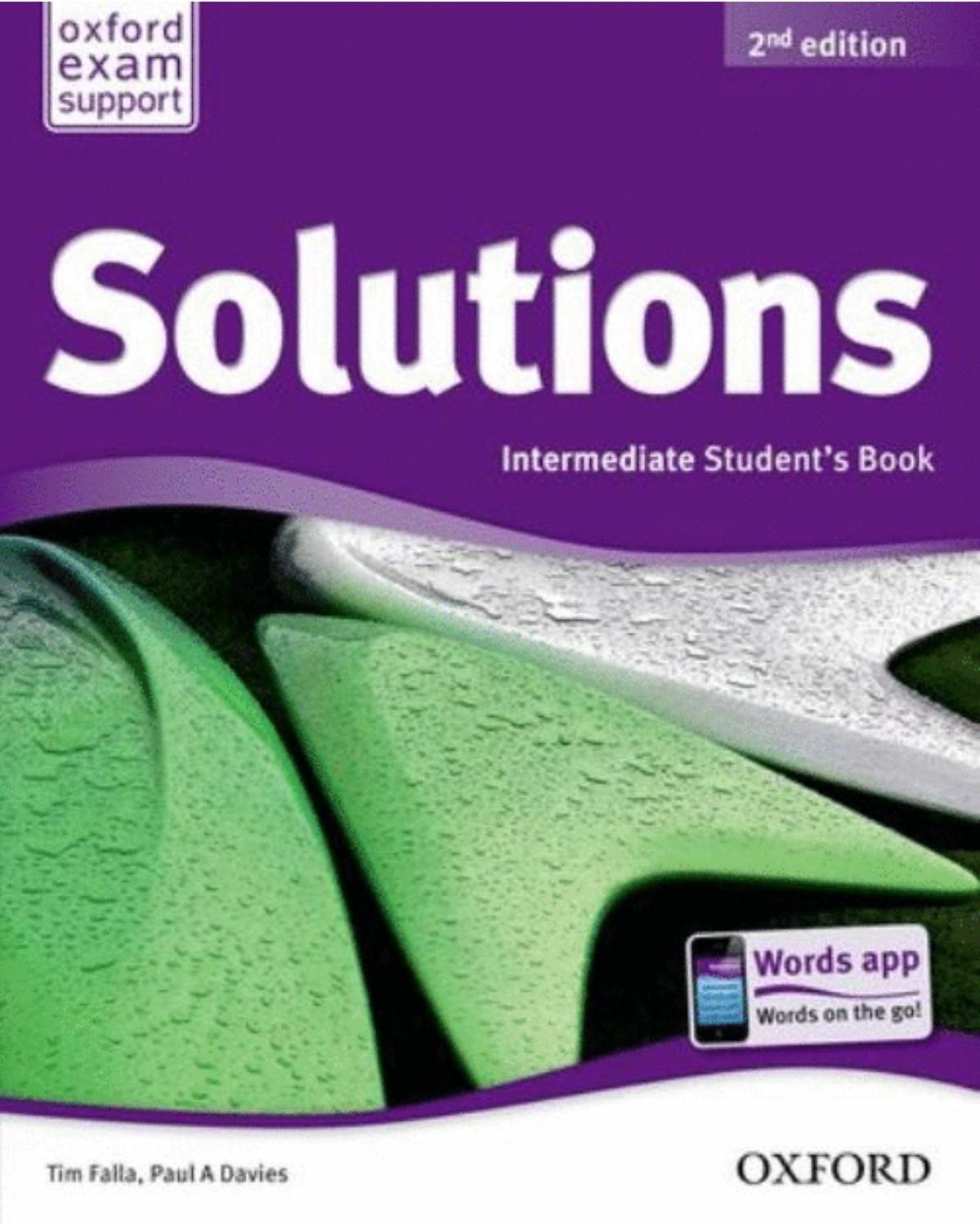 Solutions 2nd Ed Intermediate Book Teacher Books Solutions Books