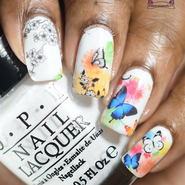 Lady Queen Butterfly Print Water Decals - Nail Art Gallery ...