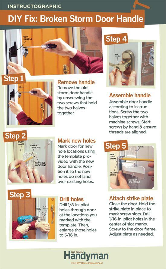 How To Fix Your Broken Storm Door Handles Home Repair Storm Door Handle Diy Home Repair