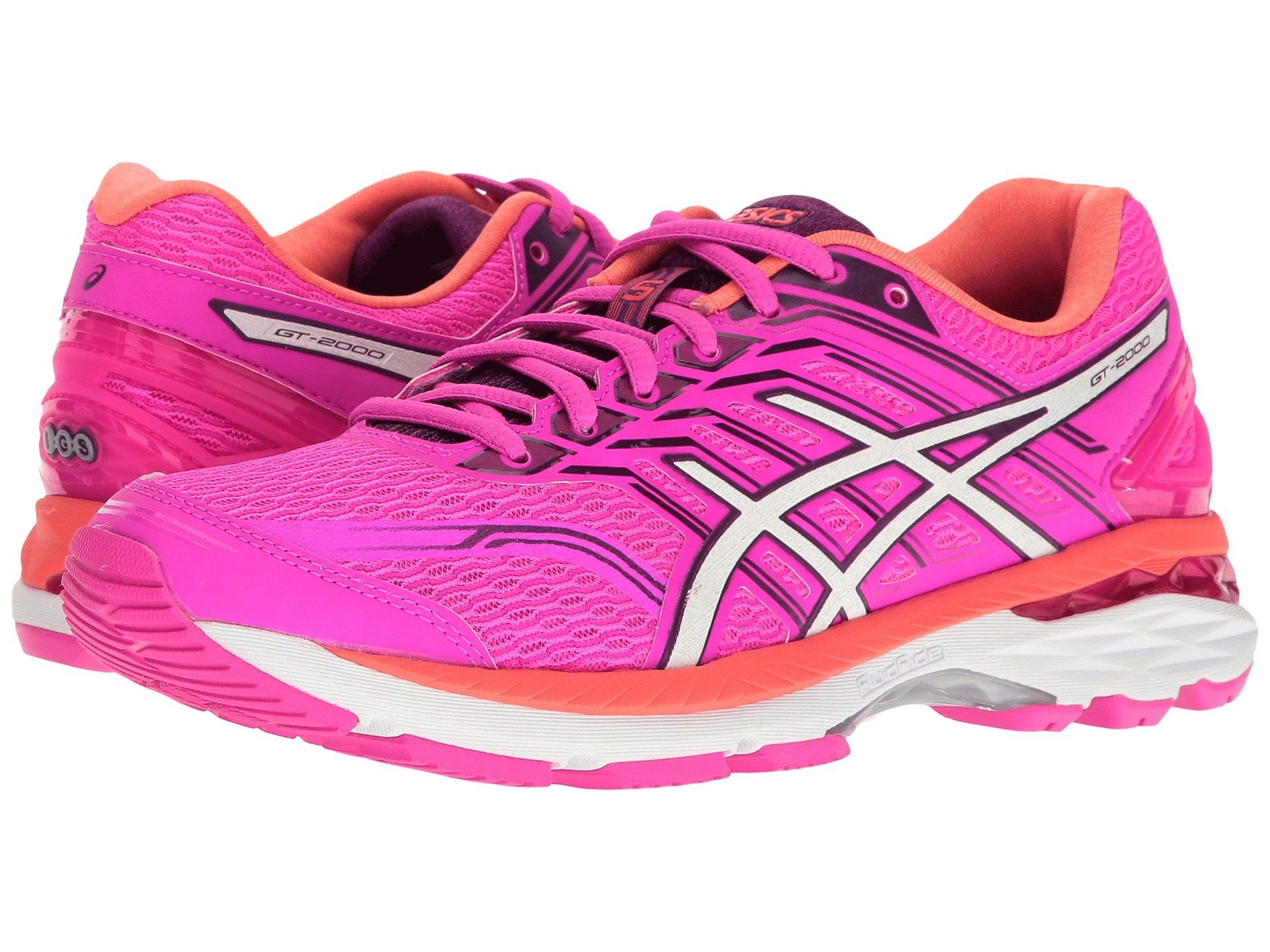 Gt2000 5 in pink glowwhitepurple with images asics