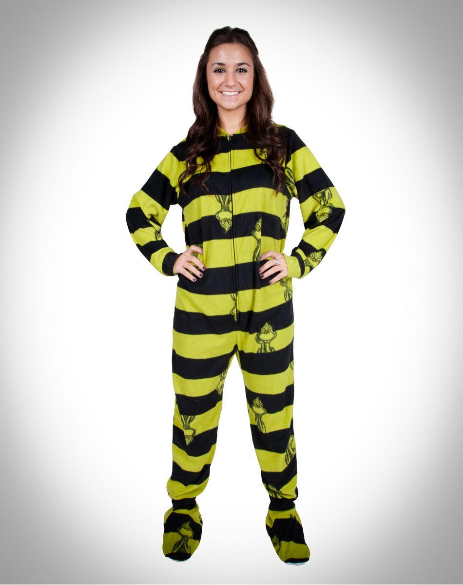 02d49b7dd4dd The Grinch  Footie Pajamas. I want footies soo badd!!