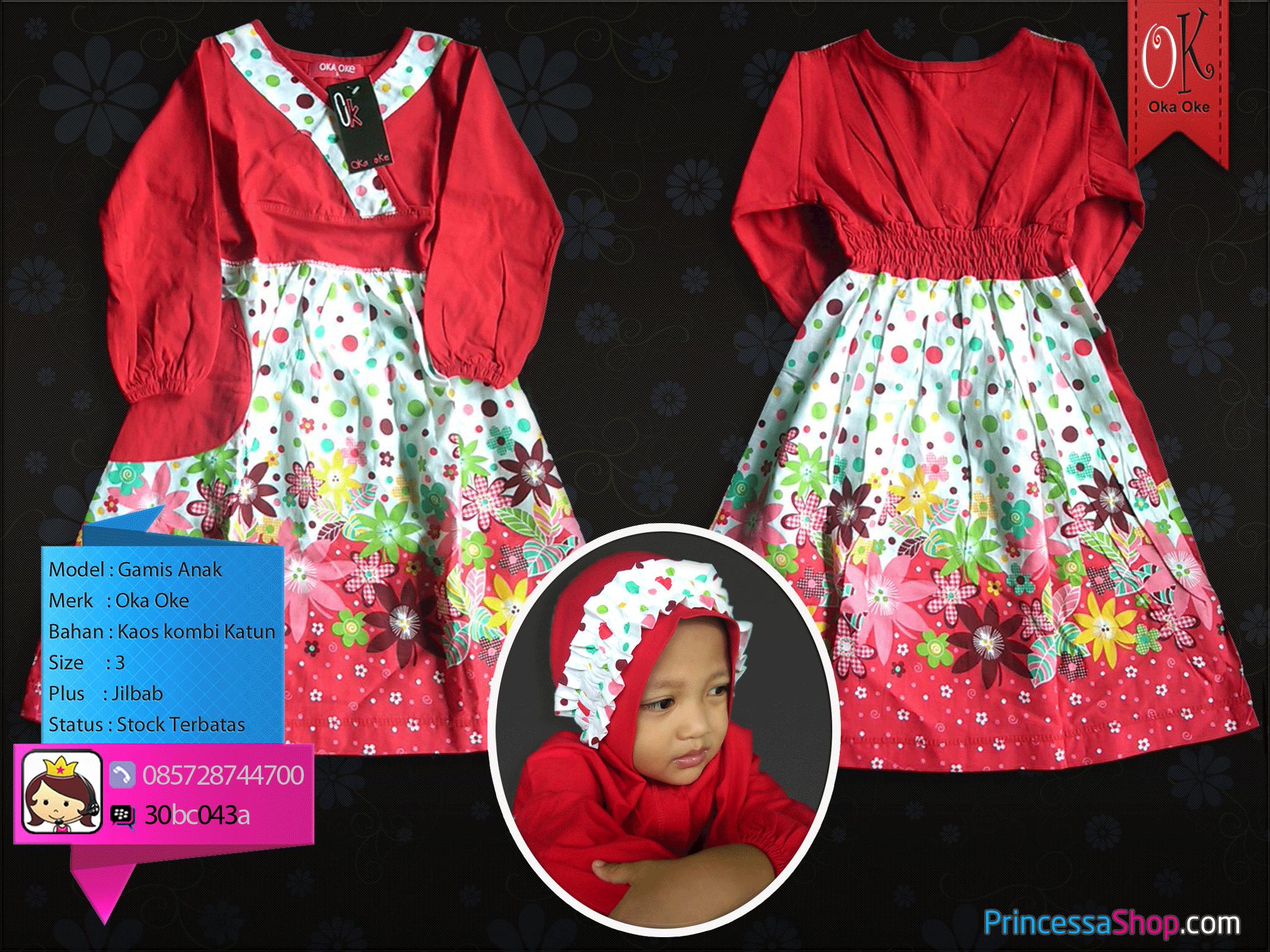 Grosir Baju Muslim Anak Perempuan Harga Murah Bahan Kaos Dan Katun