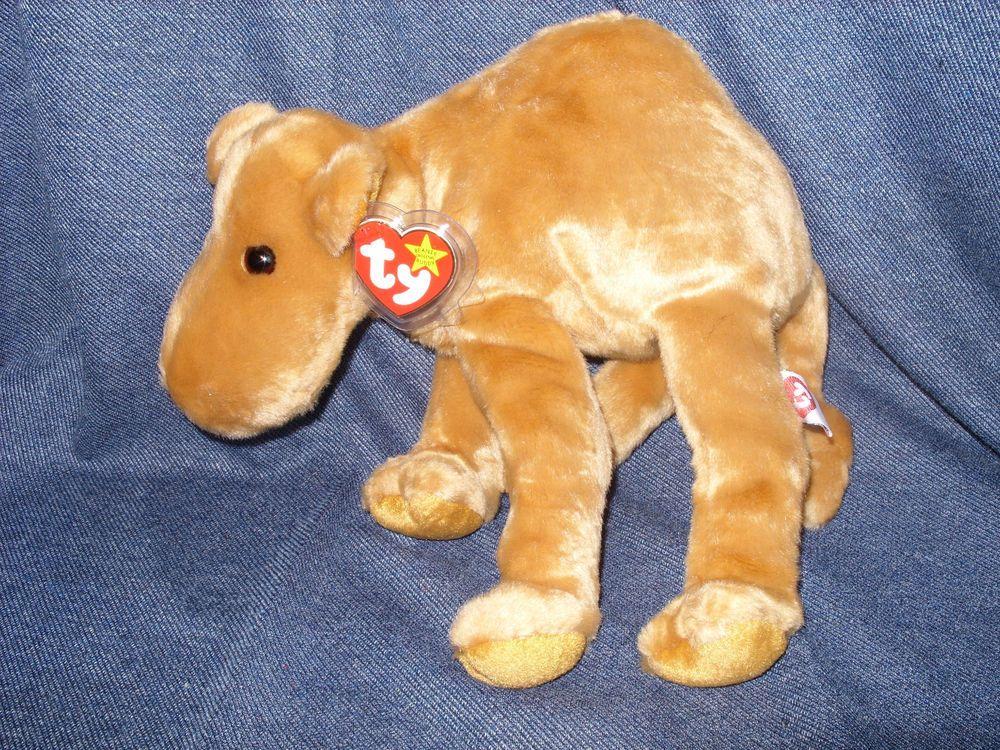 Rare 100% Genuine 1st Generation Ty Beanie Buddy Humphrey Camel NWT ... 5c6d1323bf6