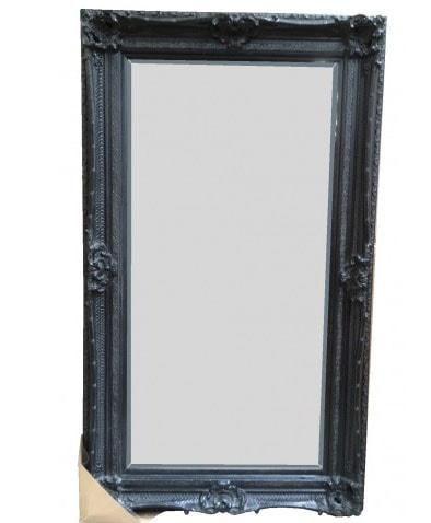 Large Full Length Mirror - Elena Black Wall Mirror . This quality ...