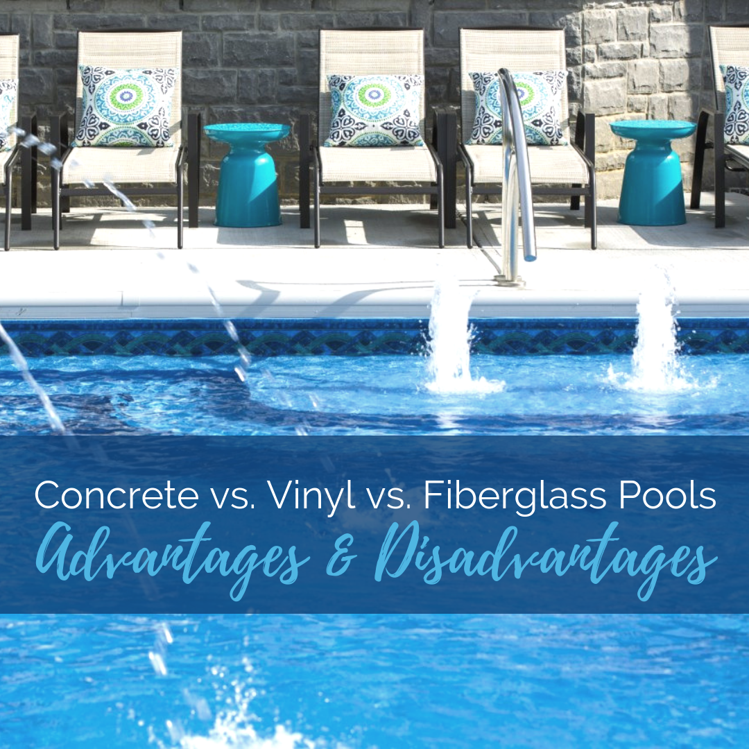 Vinyl Pools Vs Fiberglass Pools Vs Concrete Pools Fiberglass Pools Pool Concrete Pool