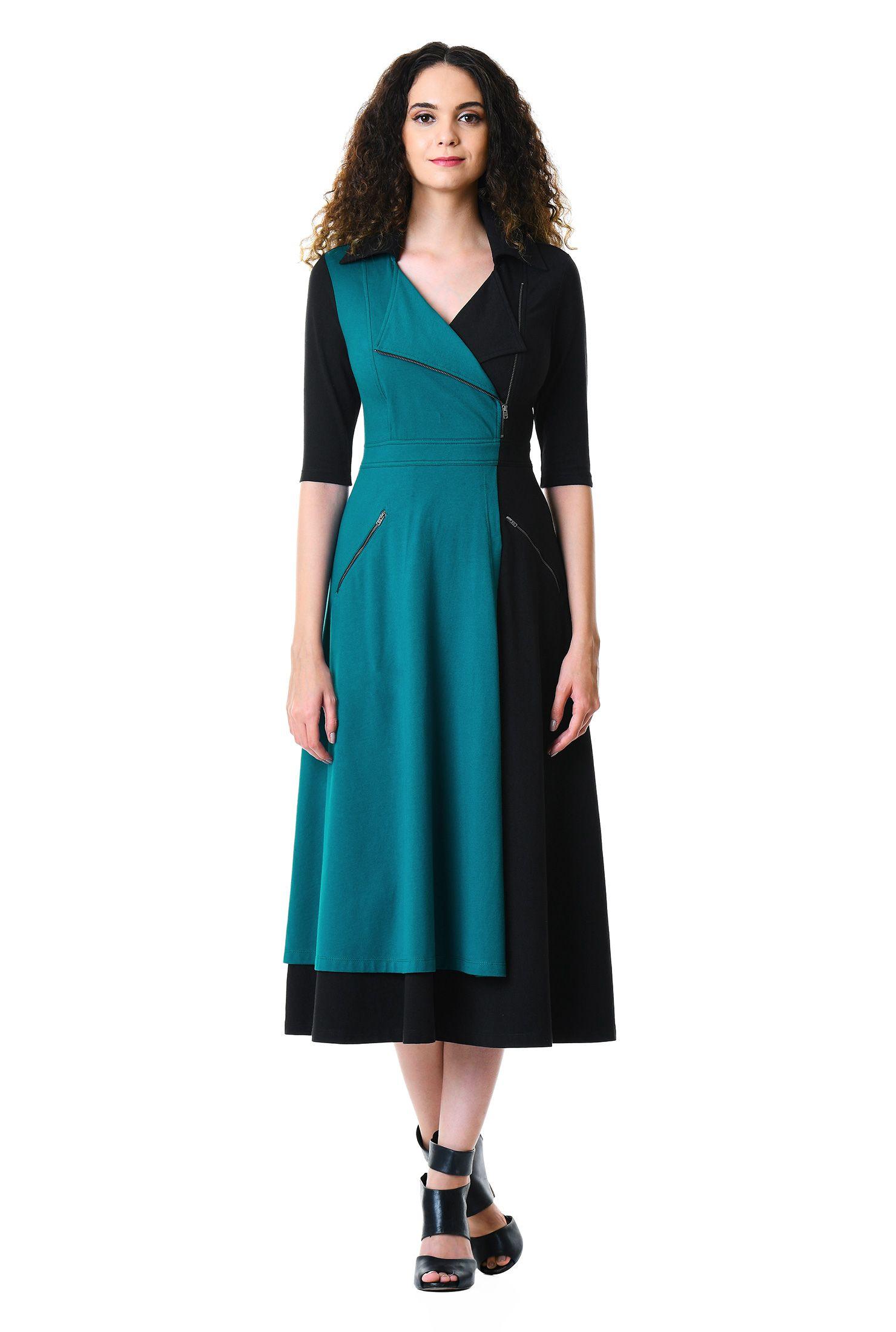 Black Mid Calf Dresses