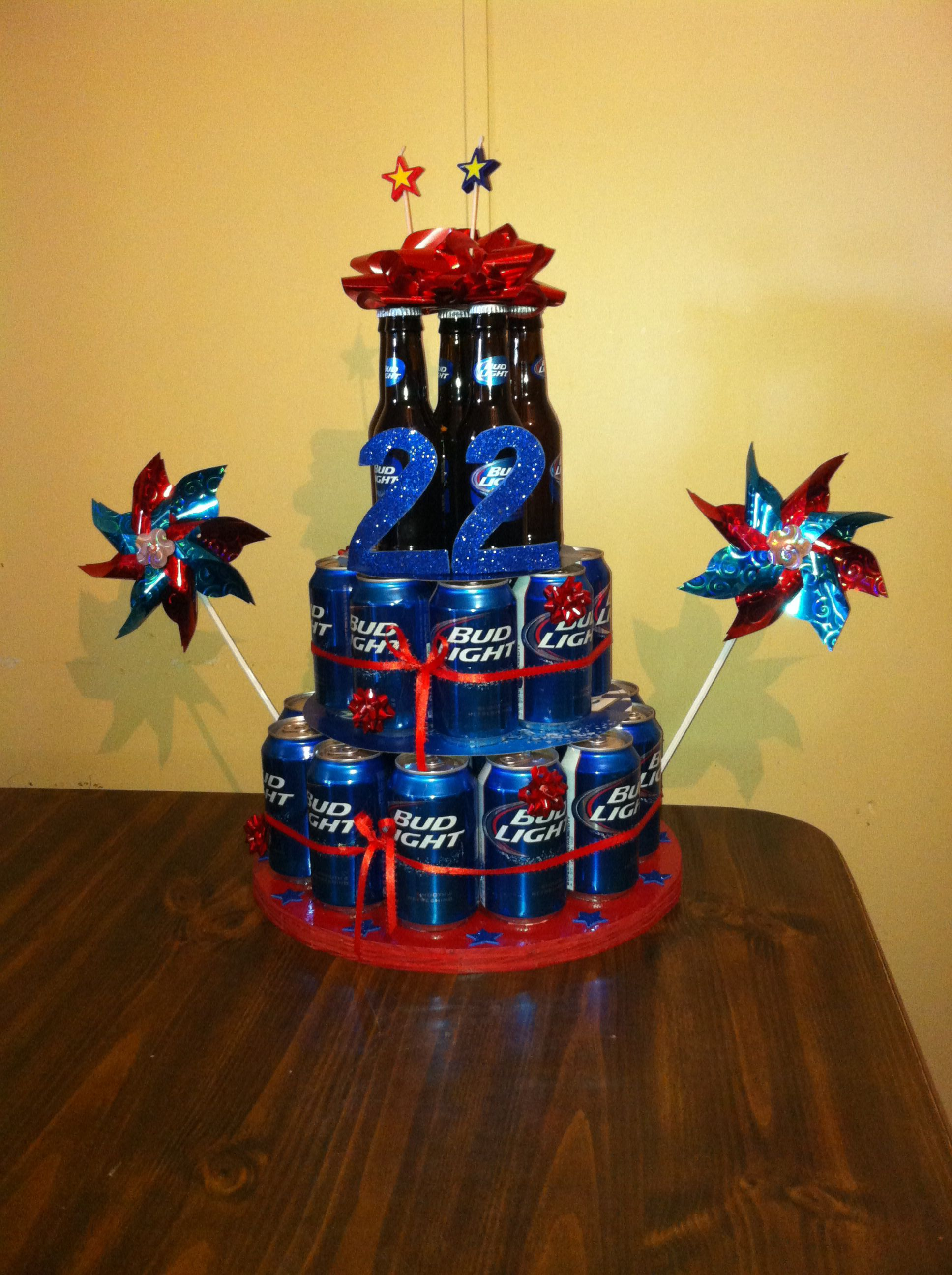 22nd Birthday Beer Cake For My Boyfriend So Cute Easy