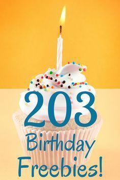 203 Birthday Freebies to Help You Celebrate #birthdaymonth
