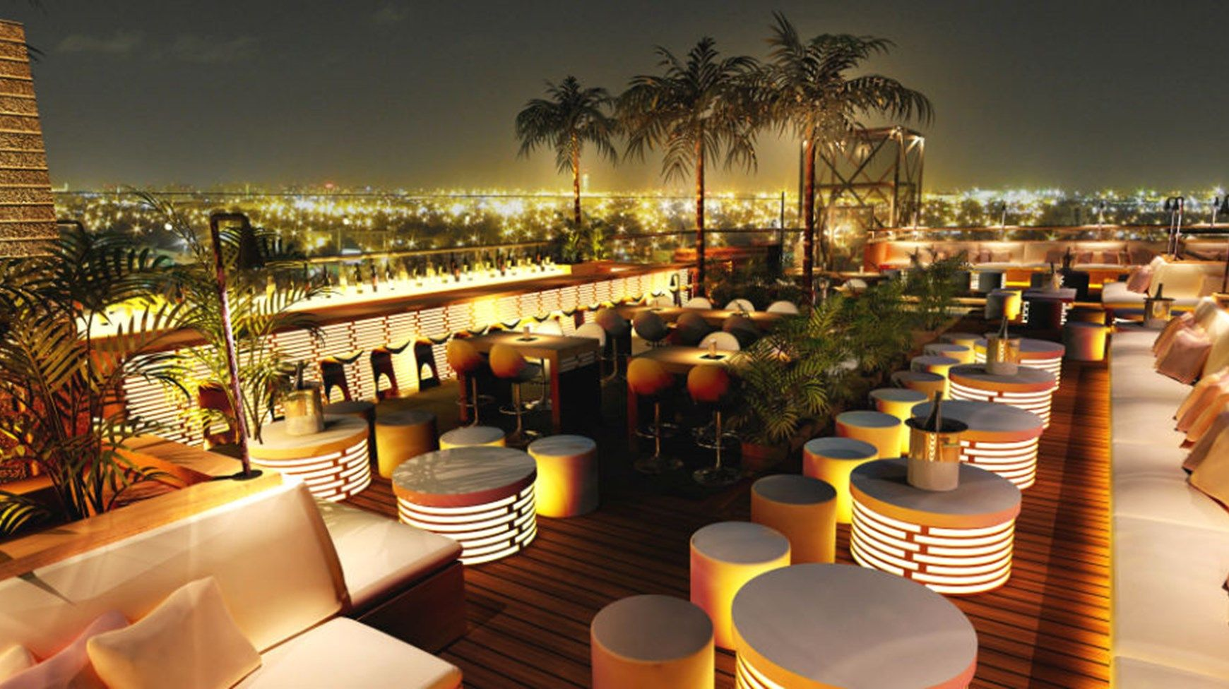 40 Kong Bar The H Hotel Dubai Rooftop Design Rooftop Bar