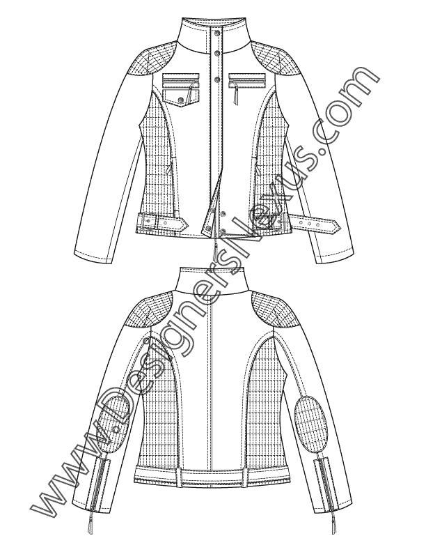 Free Illustrator Fashion Templates Jacket Flat Sketches Flat Sketches Sleeve Tattoos Jackets