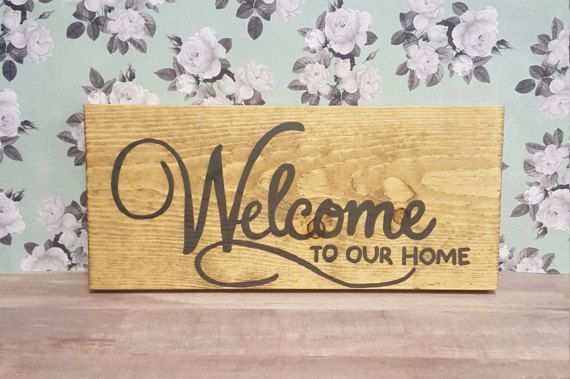 Welcome Wall Decor/Welcome to Our Home wood sign/Hand Painted ...