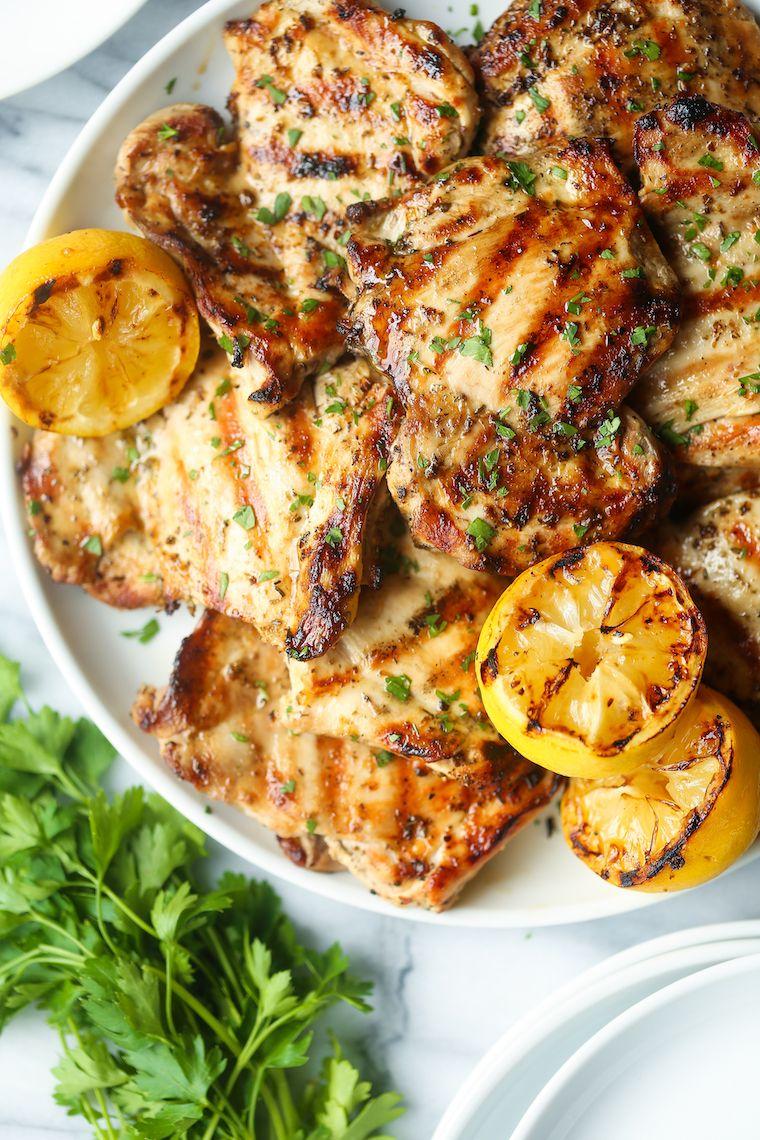 Lemon Garlic Chicken Thighs #garlicchicken