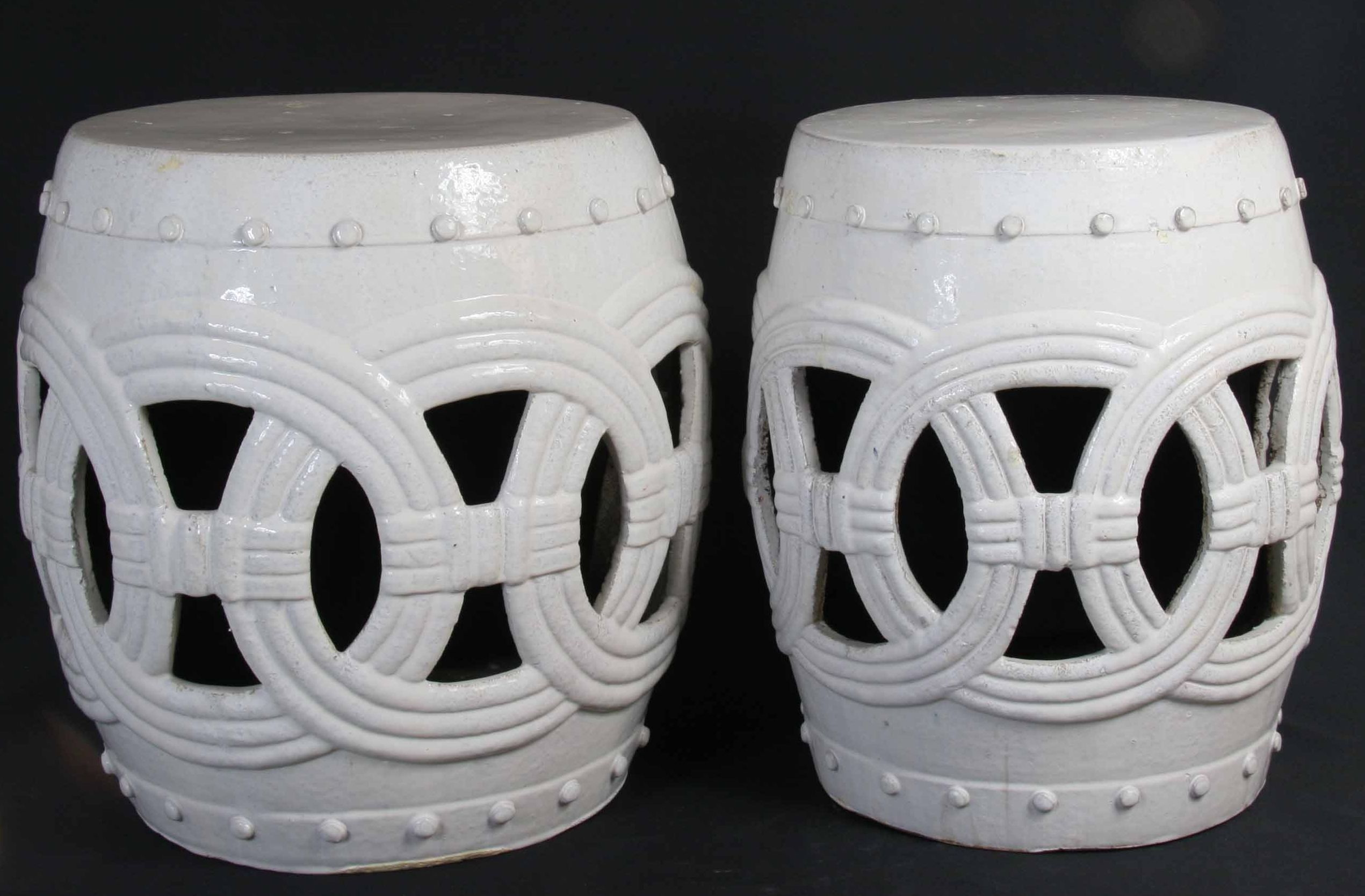 Large Circle Garden Stool In White Also Available As Small Circle Garden  Stool In White 20
