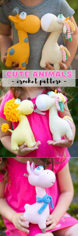 Ensemble de 2 motifs au crochet jouet girafe et licorne, meilleur modèle Amigurumi, jouet de modèle au crochet facile   – **Incredible crafts! Showing off, advertising, marketing