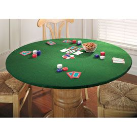 Felt Table Cover Turns Any Table Into The Perfect Surface For Playing Cards.  Square Or Round, This Elastic Edge Table Cover Gives A Worn Card Table A  Fresh ...