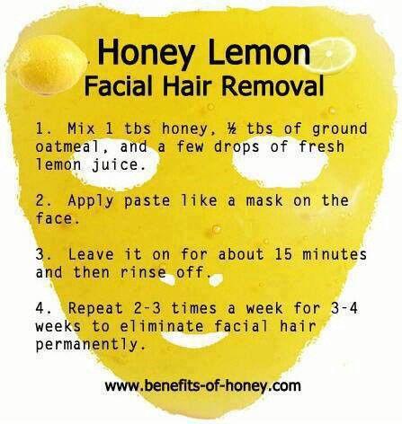 Honey Lemon Mask For For Facial Hair Removal Lemon Facial Face