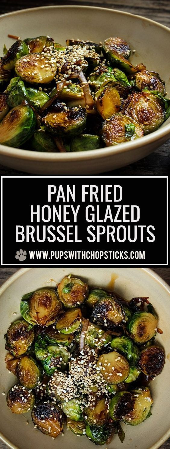 Honey Glazed Pan Fried Brussels Sprouts Recipe Cooking