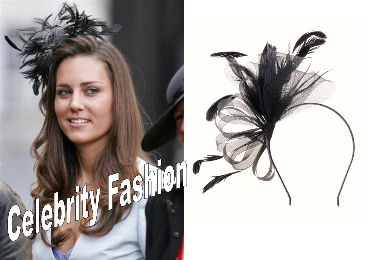 how to attach a fascinator | fascinator netting feather headband
