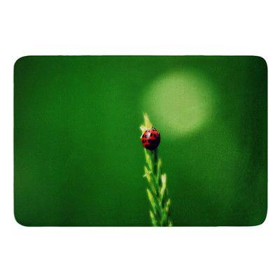 East Urban Home Ladybug Hugs by Robin Dickinson Bath Mat