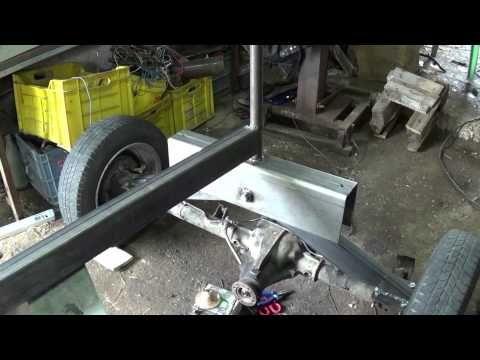 my little homemade garden tractor part1 / walkaround - YouTube